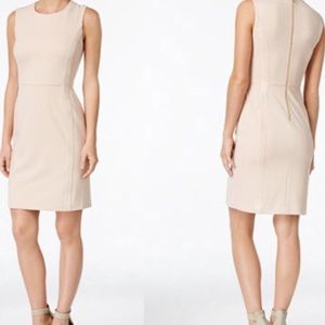 Calvin Klein faux suede dress